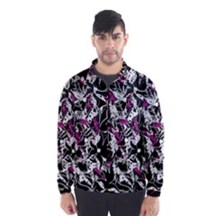 Purple abstract flowers Wind Breaker (Men)