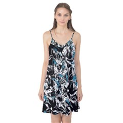 Blue abstract flowers Camis Nightgown