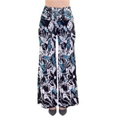 Blue abstract flowers Pants