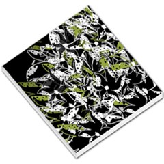 Green floral abstraction Small Memo Pads