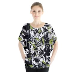 Green floral abstraction Blouse