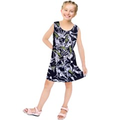 Green floral abstraction Kids  Tunic Dress