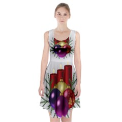 Candles Christmas Tree Decorations Racerback Midi Dress