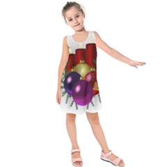 Candles Christmas Tree Decorations Kids  Sleeveless Dress