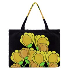 Yellow tulips Medium Zipper Tote Bag