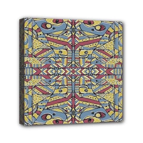 Multicolor Abstract Mini Canvas 6  X 6