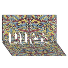 Multicolor Abstract Hugs 3d Greeting Card (8x4)