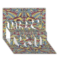 Multicolor Abstract Miss You 3d Greeting Card (7x5)