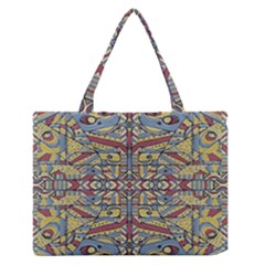 Multicolor Abstract Medium Zipper Tote Bag