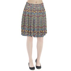 Multicolor Abstract Pleated Skirt