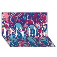 Blue Garden Best Bro 3d Greeting Card (8x4)