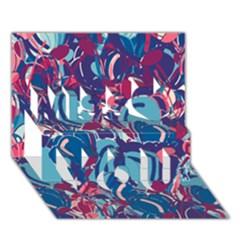 Blue Garden Miss You 3d Greeting Card (7x5)