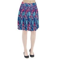 Blue garden Pleated Skirt
