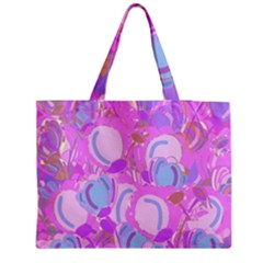 Pink garden Medium Zipper Tote Bag