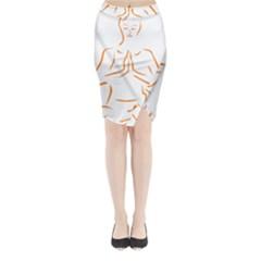 Budda Design Midi Wrap Pencil Skirt