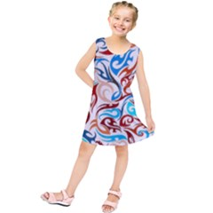Colorful Ornaments Design Kids  Tunic Dress