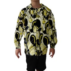 Yellow abstract garden Hooded Wind Breaker (Kids)