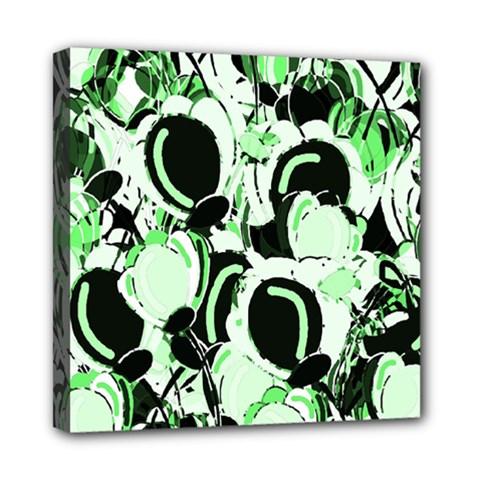 Green abstract garden Mini Canvas 8  x 8