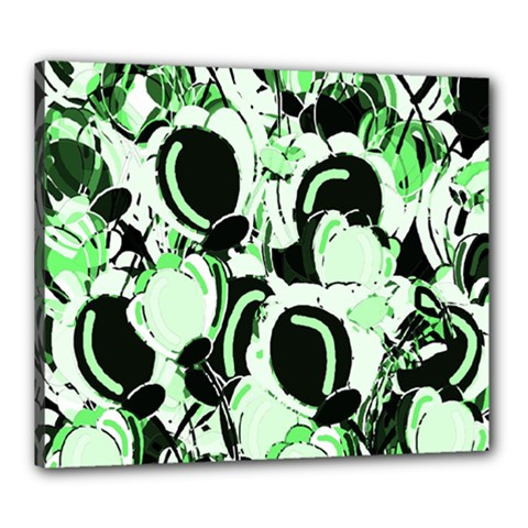 Green abstract garden Canvas 24  x 20