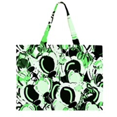 Green abstract garden Large Tote Bag