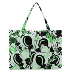 Green Abstract Garden Medium Zipper Tote Bag