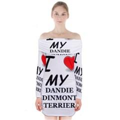 Dandie Dinmont Love Long Sleeve Off Shoulder Dress