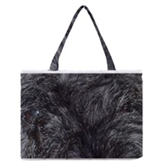 Scottish Terrier Eyes Medium Zipper Tote Bag