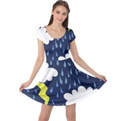 Thunderstorms Cap Sleeve Dresses