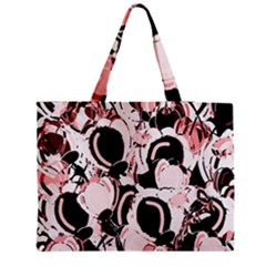 Pink abstract garden Medium Tote Bag