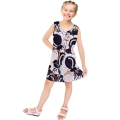 Orange Abstract Garden Kids  Tunic Dress