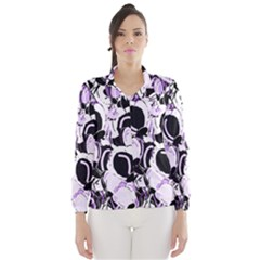 Purple abstract garden Wind Breaker (Women)
