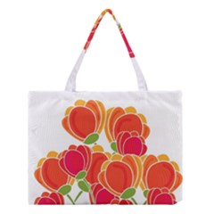 Orange flowers  Medium Tote Bag