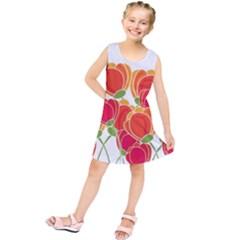 Orange flowers  Kids  Tunic Dress