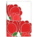 Red floral design iPad Air Flip View1