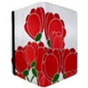 Red floral design iPad Air Flip View3