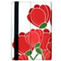 Red floral design iPad Air Flip View4