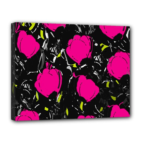 Pink Roses  Canvas 14  X 11