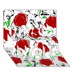 Red Roses 2 Miss You 3d Greeting Card (7x5)
