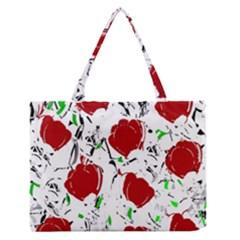 Red Roses 2 Medium Zipper Tote Bag