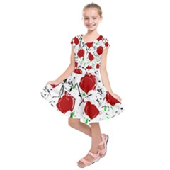 Red roses 2 Kids  Short Sleeve Dress