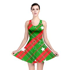 Background Abstract Christmas Reversible Skater Dress