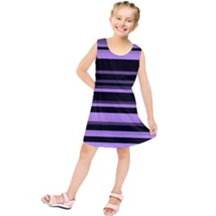 Lavender Stripes Kids  Tunic Dress