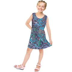 Colorful Abstract Painting Design  Kids  Tunic Dress