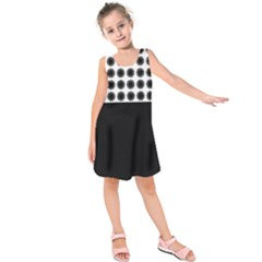 Black And White Geometric Design  Kids  Sleeveless Dress