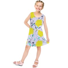 Yellow Roses 2 Kids  Tunic Dress