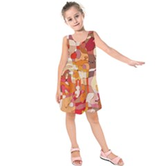 Colorful Abstract Painting Design  Kids  Sleeveless Dress