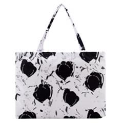 Black roses Medium Zipper Tote Bag