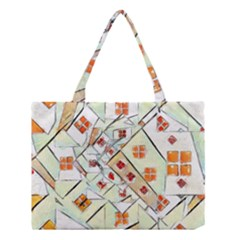 Multicolor Abstract Painting  Medium Tote Bag