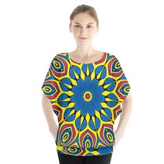 Yellow Flower Mandala Blouse