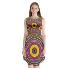Ornament Mandala Sleeveless Chiffon Dress